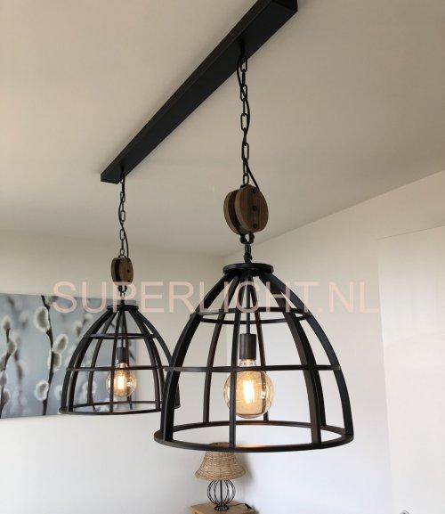 Birdie zwart 2 lichts 47cm