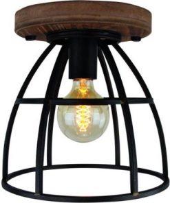 Birdie zwart 1 lichts 25cm