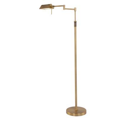 In hoogte verstelbare leeslamp / vloerlamp met knikarm zodat het licht precies daar komt waar gewenst. Vervaardigd uit geborsteld bronskleurig staal. Lamp wordt inclusief 10 Watt LED lamp geleverd. De vloerlamp is dimbaar door middel van een traploze pulsdimmer zodat iedere gewenste sfeer gecreëerd kan worden. Bestel deze vloerlamp nu online met de service en garantie van een servicepunt bij u in de buurt. 5895BR Vloerlamp. Mexlite.