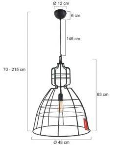 Hanglamp Mark III 7872ZW Zwart