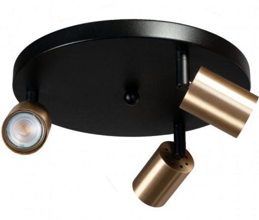 Bounce Masterlight 3 lichts zwart/staal zwart/mat goud of zwart/zwart