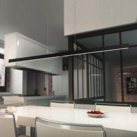 Hanglamp Linn L1zwart LED (52W) met 2x sensordimmer
