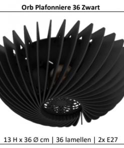 Orb Plafonniere 36 cm Zwart Blij Design